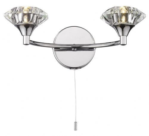 Luther 2-light Polished Chrome Wall Light (025097) (Class 2 Double Insulated) BXLUT0950-17